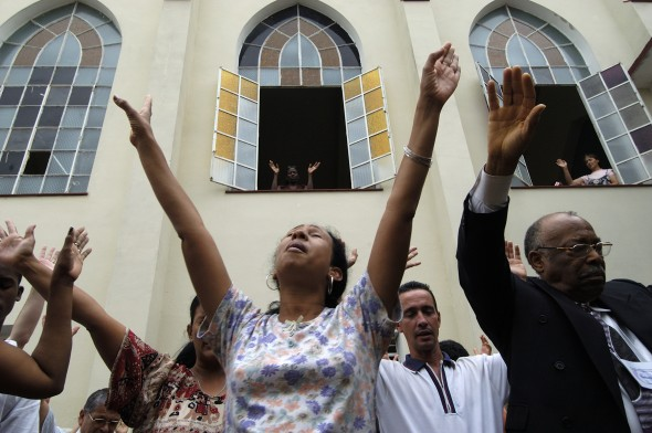 A Methodist worship service in Havana